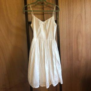 J Crew White Eyelet Dress